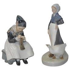 Pair of Royal Copenhagen Porcelain Figurines c.1960s