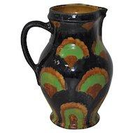 19th Century German Glazed Stoneware Pitcher