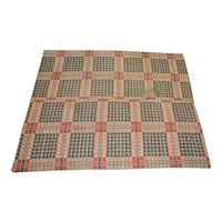 19th Century American Hand Woven Coverlet c.1850