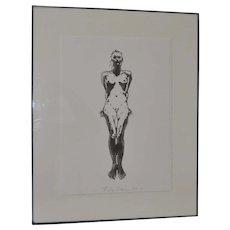 Robert Graham (1938-2008) Figural Nude Lithograph c.1993