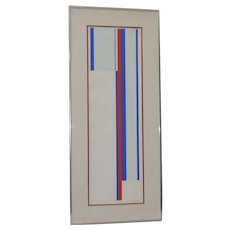 Ilya Bolotowsky (1907-1981) Original Pencil Signed Serigraph c.1970