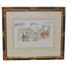 Jacques Villon (1875-1963)Original Color Aquatint c.1961