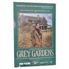 """Vintage """"Grey Gardens"""" Movie Poster from The Paris Theater in NYC"""