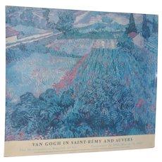 Vintage Van Gogh Exhibition Poster c.1987