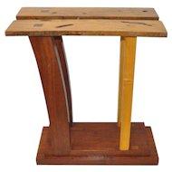 Hardwood Pedestal by San Francisco Designer Dia Ates