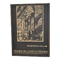 Piranesi Italian Exhibition Poster c.1979