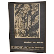 Piranesi Italian Exhibition Poster c.1979