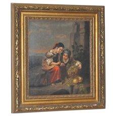 Fine 19th Century Italian School Oil on Canvas