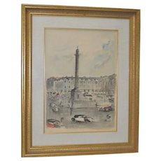 Guy Neyrac (French, 1900-1950) Original Watercolor Painting