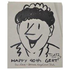 "Ted Key (American Cartoonist, 1912-2008) Original ""Hazel"" Illustration c.1999"