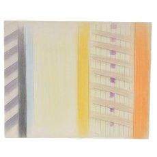 John Charles Haley (American, 1905-1991) Modernist Abstract Color Pencil and Graphite on Paper c.1980s