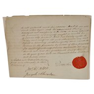 Duke of Devonshire Letters w/ Seal 18th to 19th Century