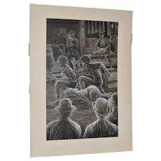 Original Jack London Book Illustration by Peter Thorpe