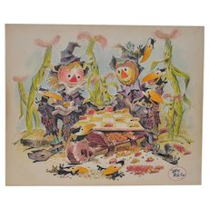Art Riley (1911-1998) Original Cartoon Illustration c.1960