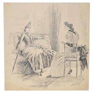 Samuel D. Ehrhart (1862-1937) Original Illustration c.1900