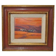 "Ted Littlefield ""Navajo Drive"" Acrylic Painting"