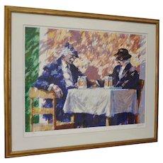 """Aldo Luongo Limited Edition Serigraph """"Amigos"""" c.1991"""