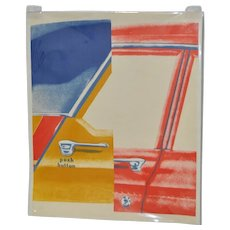 """James Rosenquist """"Roll Down"""" Color Lithograph c.1960s"""