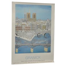 "Contemporary French Artist ""Granick"" Exhibition Poster c.1996"