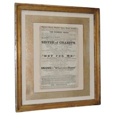"""Theatre Royal, English Opera House, Strand """"Sisters of Charity"""" Flyer c.1920s"""