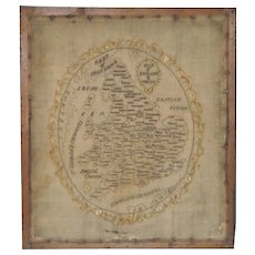 Map of England and Wales Early 19th Century Sampler