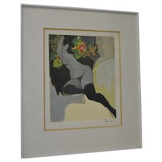 Itzchak Tarkay Figural Nude Color Serigraph Limited Edition