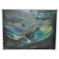 Fabulous Sixties Abstract Oil Painting by Rita Robinson c.1961