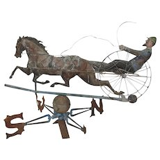 Horse & Sulky Weathervane Late 19th Century Folk Art