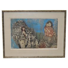 Abraham Yakin Etching w/ Aquatint c.1960s