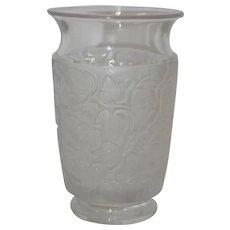 Lalique Frosted Leaf Vase