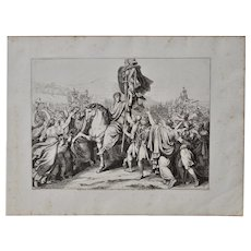 "Bartolomeo Pinelli ""Romulus Returns to Rome w/ the Remains of King Acre"" c.1817"