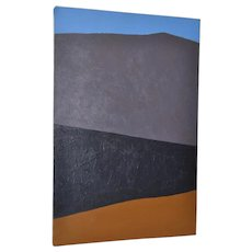 """Vintage Charles Hersey """"Gray Mountain"""" Abstract Painting"""