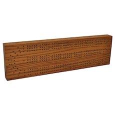 Cribbage Boards - Vintage Hand Made Oak and Walnut c.1920