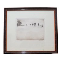 Levon West Drypoint Etching c.1930's
