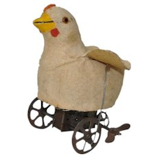 Charming Wind-Up Chick c.1930s to 1940s