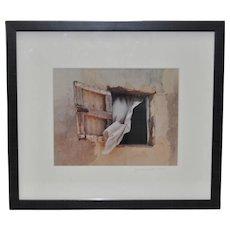 "Vintage Color Photo ""Wind Swept Window"" c.1998"