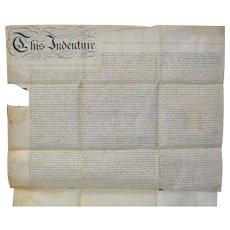 Mid 19th Century Hand Written Deed c.1846