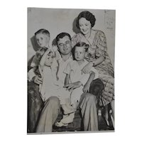 "Jim Braddock ""Cinderella Man"" Family Press Photo c.1935"