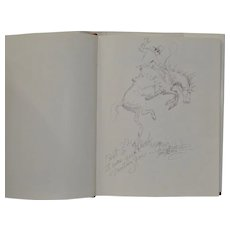 The Fred Oldfield Book w/ ORIGINAL Drawing & Inscription