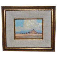 "Robert Leroy Knudson (American, b.1929) ""Summer"" (Study) Oil Painting c.1974"