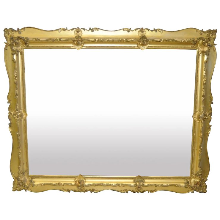 19th C. Carved & Gilded Frame : Antique Canvas | Ruby Lane