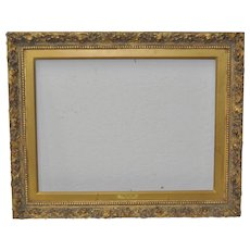 Late 19th or Early 20th Century Carved & Gilded Antique Frame