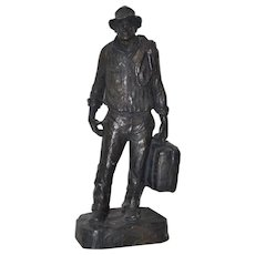 """Traveler"" Composite Sculpture by Michael Garman c.1970"