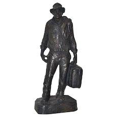 """Traveler"" Composite Sculpture by Michael Garman c.1970"