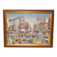 New York City Oil Painting c.1987