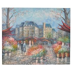 Parisian Flower Market Painting