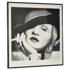 Marlene Dietrich Black and White Limited Edition Fine Art Photograph