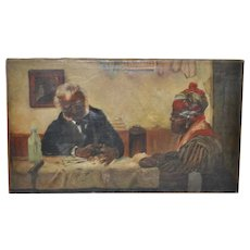 Early 20th C. African American Painting After Harry Roseland c.1920