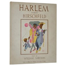 "Hirschfeld ""HARLEM"" Rare Portfolio of 24 Limited Edition Lithographs c.1941"