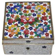 Vintage Cloisonne Box w/ Lid c.1920